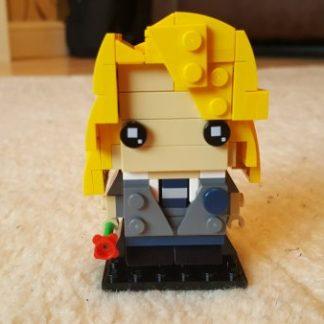 Lego Brickheadz style representation of Luna Lovegood