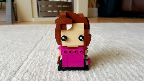 Lego Brickheadz style representation of Dolores Umbridge