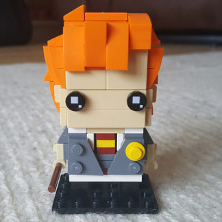 Ron Weasley represented in the Lego Brickheadz style