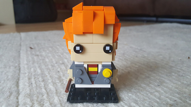Ron Weasley represented in the Lego Brickheadz style