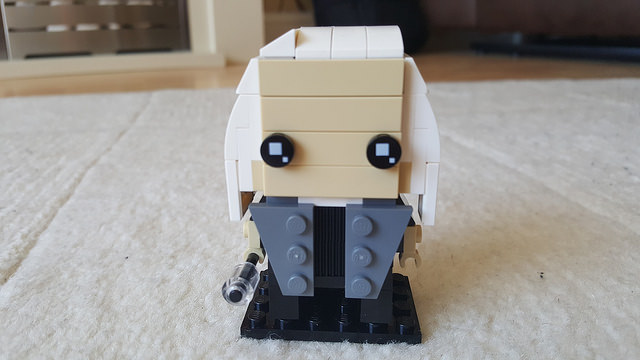 Lucius Malfoy represented in the Lego Brickheadz style
