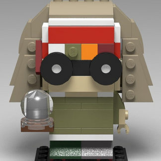 Professor Trelawney represented in the Lego Brickheadz style