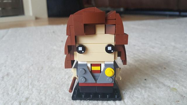 Hermione Granger represented in the Lego Brickheadz style
