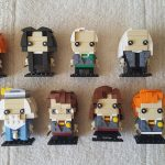 Mad Eye, Snape, Draco, Lucius, Bellatrix, Hagrid, Dumbledore, Harry Potter, Hermione, Ron and Dobby