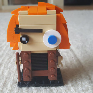 The back of Mad Eye Moody represented in the Lego Brickheadz style