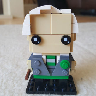 Draco Malfoy represented in the Lego Brickheadz style