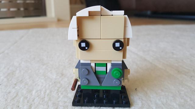Draco Malfoy represented in the Lego Brickheadz style