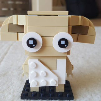 Dobby represented in the Lego Brickheadz style