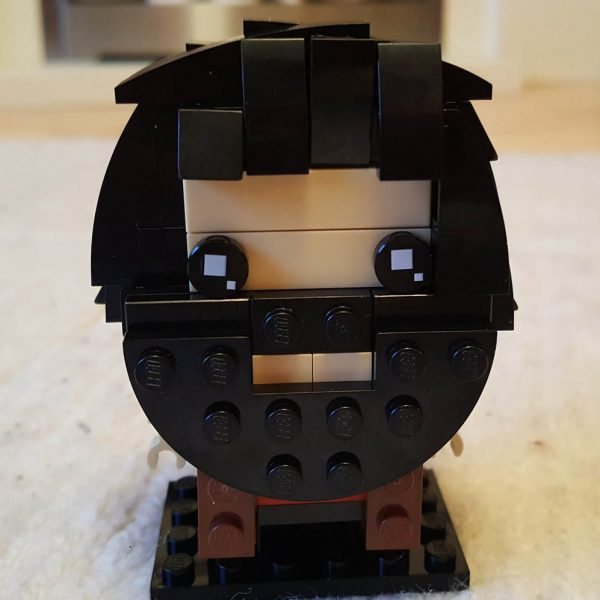 Hagrid represented in the Lego Brickheadz style