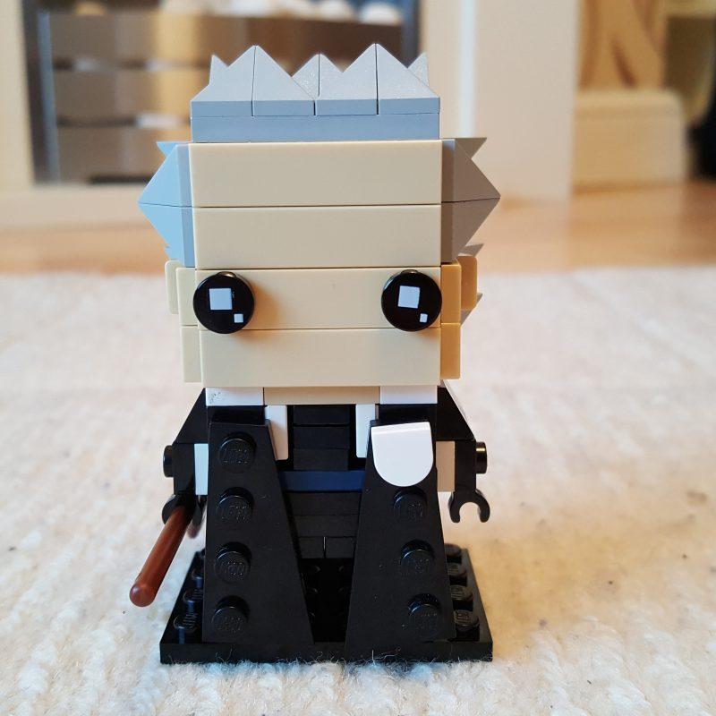 Lego Brickheadz style representation of Madam Hooch