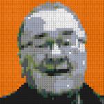 Dad's Lego mosaic portrait